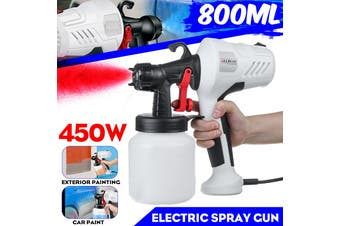 450W 220V Spray Tool High Power Home Electric Paint Sprayer Handheld Painting(white,Spray Gun Only)