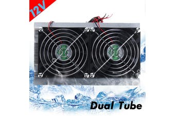 12V Refrigeration Semiconductor Cooling System Kit Thermoelectric Peltier Dual Cooling Fan Computer Components DIY