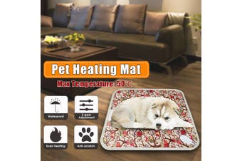 Electric Pet Heating Mat Cat Dog Heated Blanket Thermal Winter Warmer Pad Bed(Owl(45x45cm))