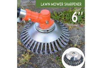 "6"" 150mm S0lid Steel W ire Wheel Garden Grass Trim mer W eed Brush Lawn M0wer Head(6 inch)"