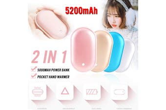 Pocket Hand Warmer Heater USB Charger Electric Rechargeable 5000mAh Power Bank