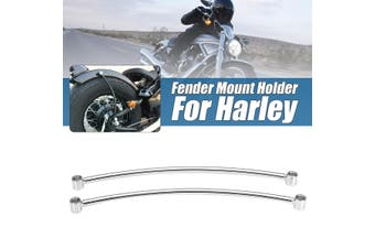 1 Pair 2x Motorcycle Rear Fender Rail Support Bracket Mount Holder for Cruiser Cafe Bobber(chrome)