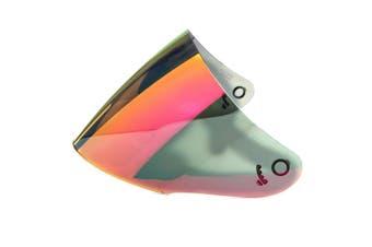 Motorcycle Helmet Lens Visor Full Face Motocross Shield Sunscreen For KYT GP(red,Low Quality)