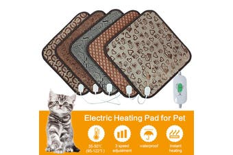 Electric Heat Heated Heating Pet Pad Mat Blanket Bed Dog Cat Auto Power Off (US Plug)