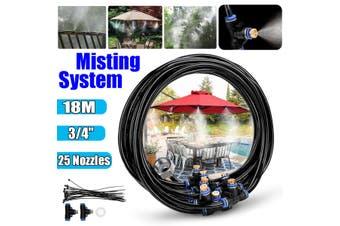 59ft Garden Patio Misting Cooling System Water Mister Nozzles Mist Sprinkler Kit