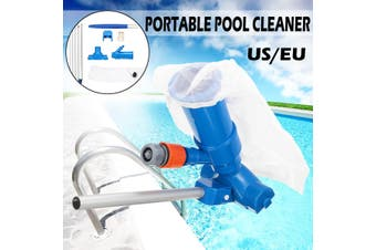 Pool Cleaner Portable Swimming Pool Pond Fountain Vacuum Brush Cleaner Cleaning (blue,EU Type)