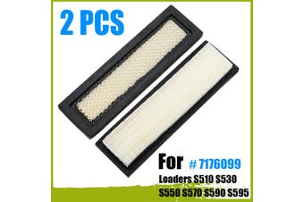 2PCS Air Filter Part # 7176099 for Loaders S510 S530 S550 S570 S590 S595