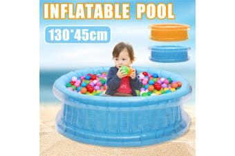 130x45cm Inflatable Swimming Pool Round Bathtub Soft Outdoor Indoor Home For Adult Family Toys Boys Kids Garden Water Play Park Backyard(blue)