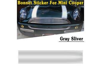 2PCS Car Sticker For Mini Cooper Mini Cooper S Engine Bonnet Hood Stripe Trim Sticker Decals