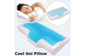 NEW Memory Foam Pillow w/ Cooling Gel Reversible Orthopedic Neck Cervical Care