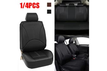 4PCS Universal PU Leather Car Seat Cover Front Seat Protection Cushion Accessory(black,4pcs (2 seaters))