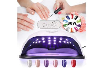 【Free Shipping + Flash Deal】 SUN XPlus 80W Nail Lamp UV LED Light Professional Nail Dryer Gel Machine Curing (US Plug)