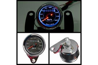 12V Universal Motorcycle Dual Speedometer Odometer KM/H Gauge LED Signal Light For Honda For Kawasaki For Suzuki