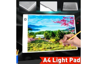 A4 LED Light Box 3-Level Dimming Tracing Board Art Design Drawing Copy Board Tablet Lightbox Diamond Painting With USB Cable(A4 LED Copy Board)