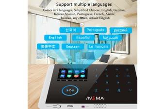 INSMA Wireless GSM SMS WiFi GPRS Smart Home Office Security Burglar Alarm Systems Kit