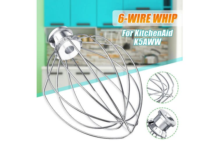 6-Wire Whisk Beater Mixer Stainless Steel Silver For KitchenAid K5AWW KSM90