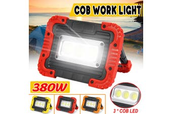 380W Rechargeable LED COB Work Light Camping Security Floodlight Emergency Lamp(red,380W USB Charging Type)