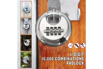 4 Digit Combination Alloy Password Padlock Waterproof Door Locker Security Lock(E)