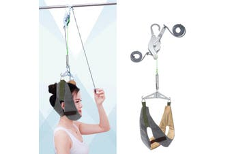Professional Hanging Neck Cervical Traction Stretcher Gear Brace Pain Relief Care Massage