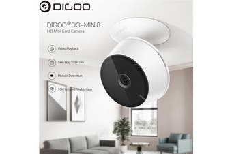 【Free Shipping】Digoo DG-Mini8 HD 2.4G 720P 1080P Wireless WIFI Indoor Security Ip Camera Night Vision Moving Detection Two-Way Audio Webcam Baby Monitor (720P)