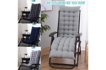 48x155x8cm Thicken Chair Cushion Mat Solid Color Office Chair Buttocks Cushion(grey,48x155cm)