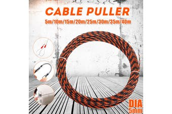 【Free Shipping + Flash Deal 】5mm 35/40mm Fiberglass/Nylon Push Puller Cable Duct Snake Rodder Fish Tape Wire