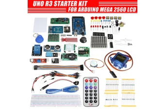 UNO R3 Starter Kit For Arduino Mega 2560 LCD Servo Ultrasonic Motor LED Relay(B( For Arduino MEGA 2560 ))