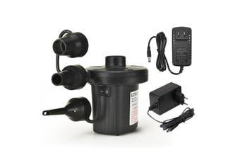 Air Mattress Pump - Electric Air Pump Portable 0.64 PSI Inflator/Deflator Pumps for Raft, Pool, Pool Floats, Bed, Toy, Yoga Ball, Quick-Fill AC Pump with 3 Nozzles,110-120 Volt