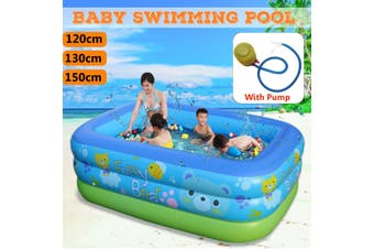 150cm Large Family Inflatable Baby Swimming Pool Center Kids Pool Bathing Tub Outdoor/Indoor Kid Play (Type3)