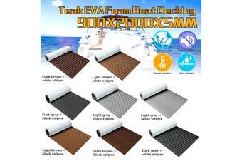 8 Styles 90cmx200cmx5mm Marine Flooring Faux Teak EVA Foam Sheet Boat Decking(brown,Light brown black stripes)