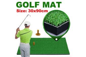 30x90cm Grass Golf Training Practice Mat Oxford TEE Driving Range Mat Pitching(30x90cm Golf mat)