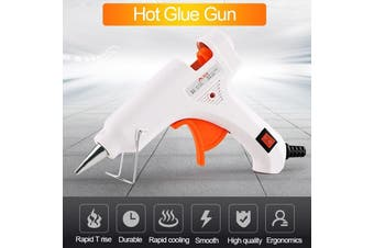 20W Electric Heating Melt Glue Gun Glass 7mm W/ Switch Stick Hot Trigger Repair Tool