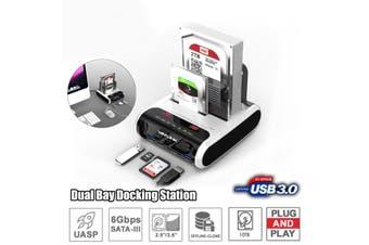 "Wavlink USB 3.0 SATA HDD Docking Station for 2.5"" and 3.5"" SATA HDD Hard Drive Disk Clone Holder Dock HDD Enclosure-EU Plug(EU Plug)"