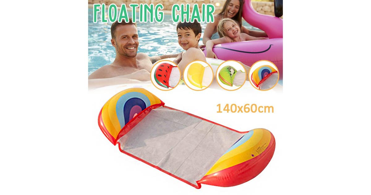 zakarriey 140x60cmpvc inflatable floating water hammock float pool lounge bed swimming chair sea beach swimming mattress lounge bed water floating bed mat chair toy for ocean lake river poollemon zr82nogu05jh