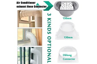 """130/150/179mm Portable Exhaust Hose Tube Connector for Air Conditioner Window""""/6""""(Oblong Connector)"""