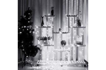 3x3M 300 LED Window Curtain Light 8 Modes Fairy String Lights Indoor Outdoor Decorative Christmas Twinkle Lights for Bedroom Wedding Backdrop Patio Wall AU Plug 220V(white,AU Plug)