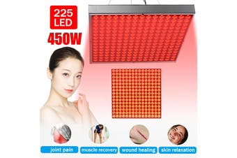 450W 225LED Infrared Red Therapy Light Anti-Aging Panel 660nm Muscle Pain Cold Relief Constant Temperature Hanging AC80-240V,with Blindfold for Free(US Plug)