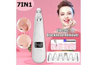 USB Blackhead Vacuum Acne Cleaner Pore Remover Skin Facial Care LCD(Upgrade Version)