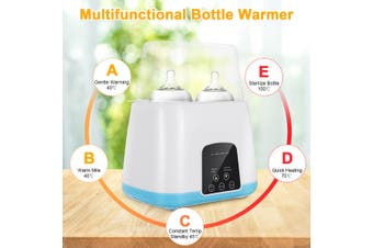 2 IN1 Warm Milk Sterilizer Intelligent Insulation Automatic Bottle Heating Thermostat (blue,EU Plug without remote control)