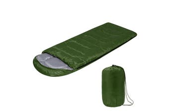 700G/1600G All Season Waterproof Ultralight Compact Hiking Camping Single Sleeping Bag with Carry Bag Solid Colors Lightweight Sleeping Bag(green,1600 g)