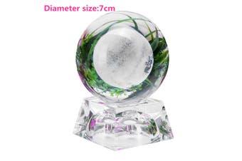 LED 3D Moon Lamp Crystal Ball Transparent Decor With Colorful Light Effect Base -- 6cm / 7cm(Diameter 7 cm)