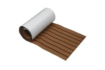 EVA Boat Flooring Faux Imitation Teak Decking Sheet Pad(brown,PU- Brown Black 45x240cm)