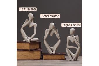 Caveen Thinker Sandstone Abstract Zen Art Statue Sculpture Hand Carved Figurine For Home Office Desktop Living Room Decor