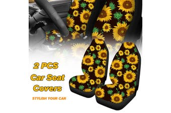 2PCS Sunflower Front Car Seat Cover Universal Car Seat Protector Washable(2pcs sunflower)
