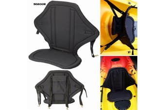 Comfortable Cushion for back and bottom Inflatable Boat Pad Seat Adjustable Kayak Canoe Seat Rowing Boat Fishing Boat Accessorie(black)
