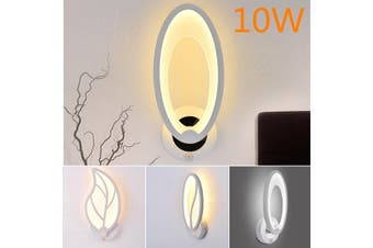 Modern Acrylic LED Bedroom Bedside Wall Lamp Aisle Hotel Bar Lights with Switch Acrylic Round LED Bedroom Bedside Wall Lamp Simple Modern Aisle Corridor Lights - warmyellow