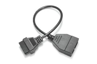 12Pin OBD1 to 16 Pin OBD2 Convertor Connector Adapter Cable(black,Pack of 1)