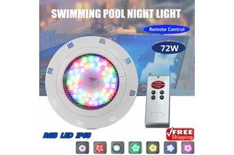 72W 72 LED RGB Underwater Pond SPA Swimming Pool Bright Light w/ Remote Control(black,72W 72 LED)