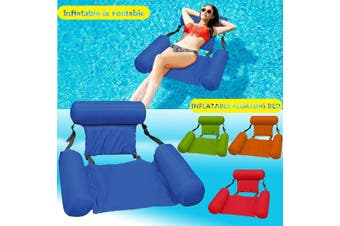Inflatable Swimming Floating Chair Foldable Swimming Pool Seats Bed Lounge Chairs 200 LBS(yellow)
