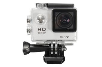 【Big Discount】SJ5000 1080P FHD WiFi Mini DV Car Action Waterproof Sport Camera HDMI 30M (white)